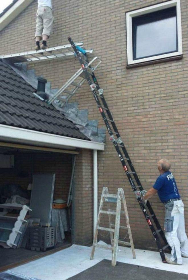 Конструкция из лестниц