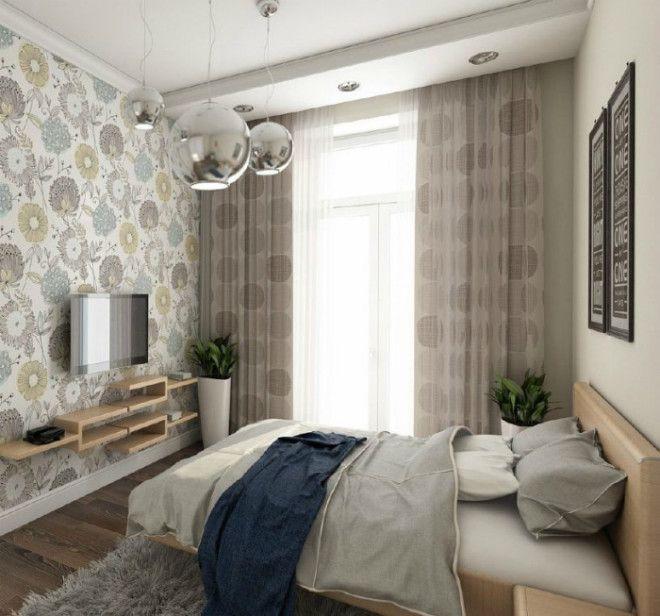 Крошечная спальня в нейтральных оттенках