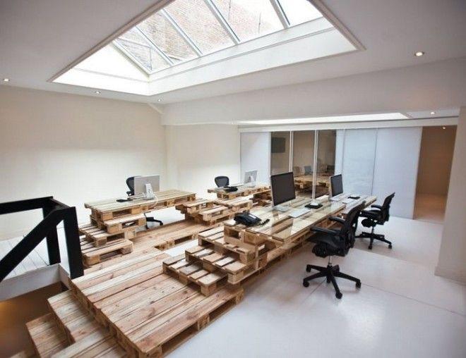 Когда размеры чердака позволяют разместить под крышей целый офис