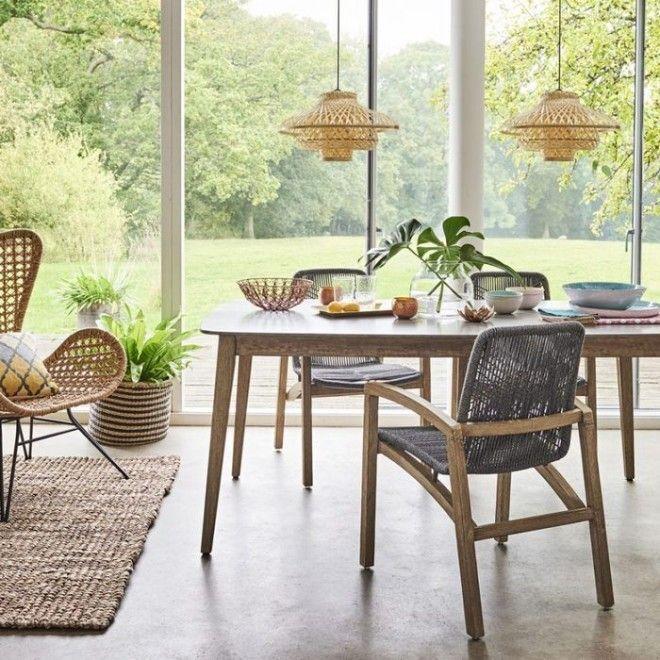 Стильная плетённая мебель