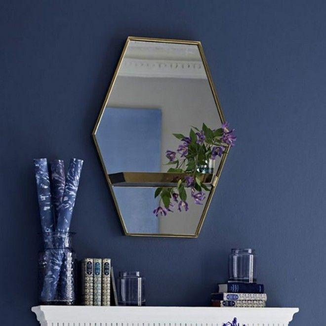 Зеркало с металлической оправой