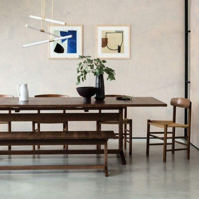 Стильна мебель из тёмной древесины
