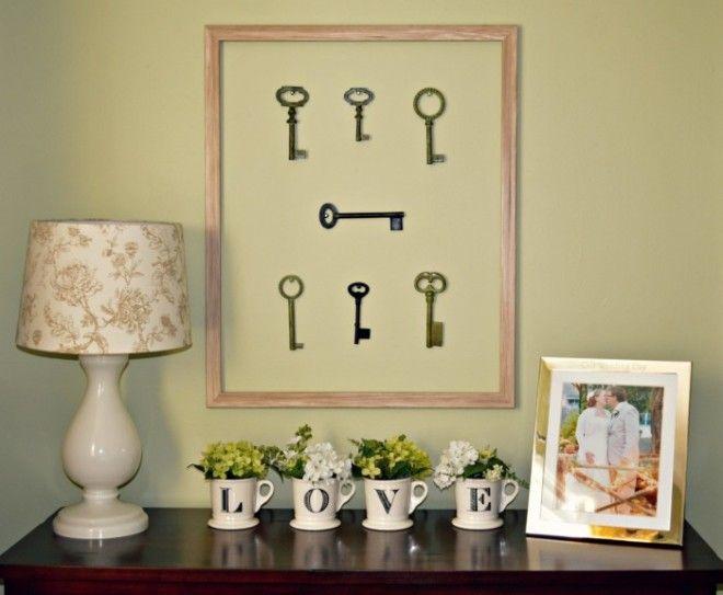 Соберите все старые ключи и соорудите из них необычное панно Это вдохнёт в ваш интерьер нотку ностальгии по былым временам