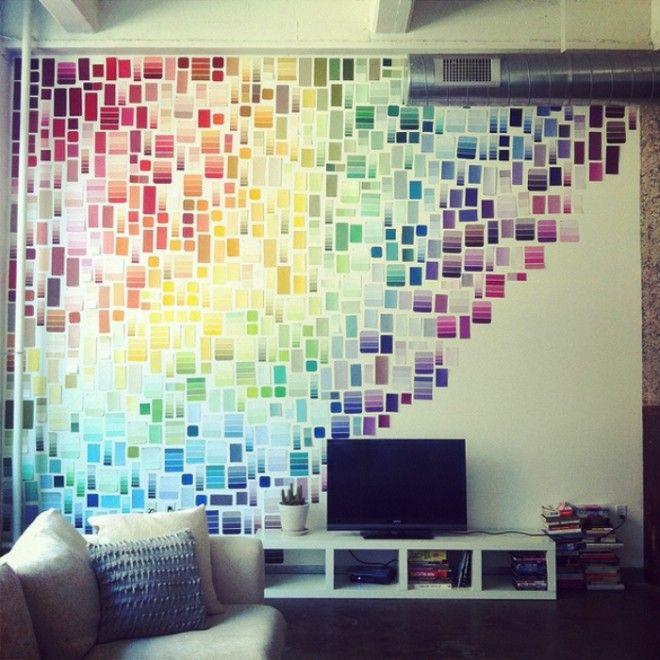 Всё гениальное просто Бумага для заметок цветной скотч для декорирования и другие клейкие элементы быстро оживят любую стену