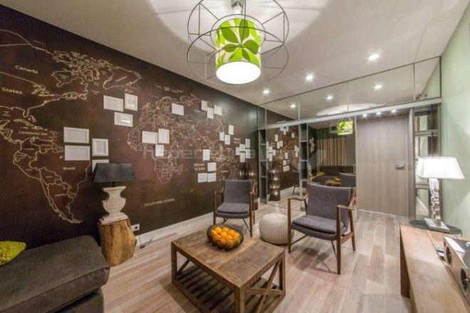 Пример оформления комнаты в доме заядлого путешественника