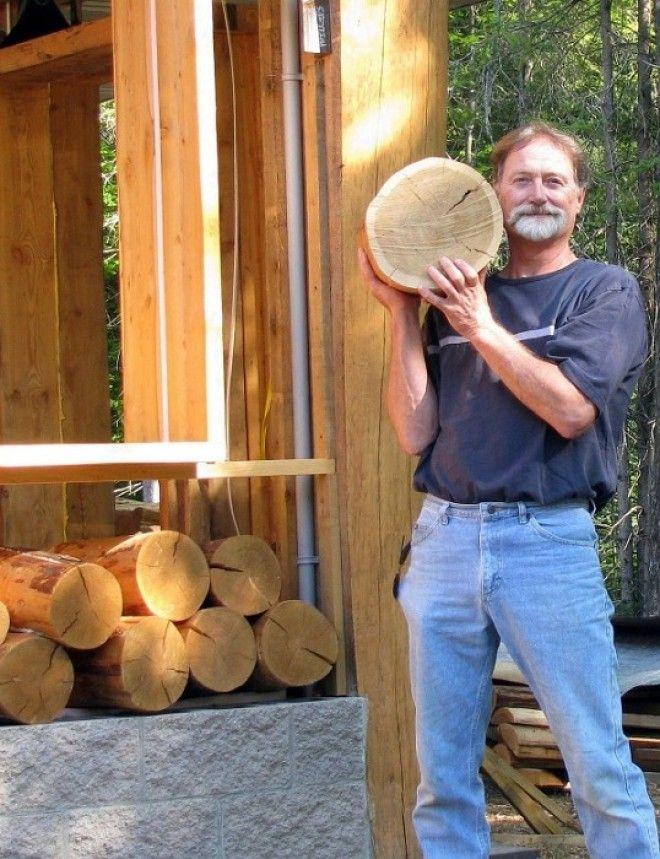Пол из деревянных колец своими руками