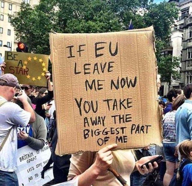 Протест против голосования по Брекситу