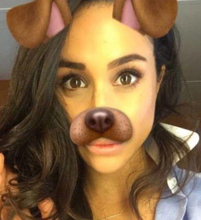 Snapchat селфи Меган в 2016 году поблагодарила таким образом своих подписчиков за поздравления с Днем Рождения