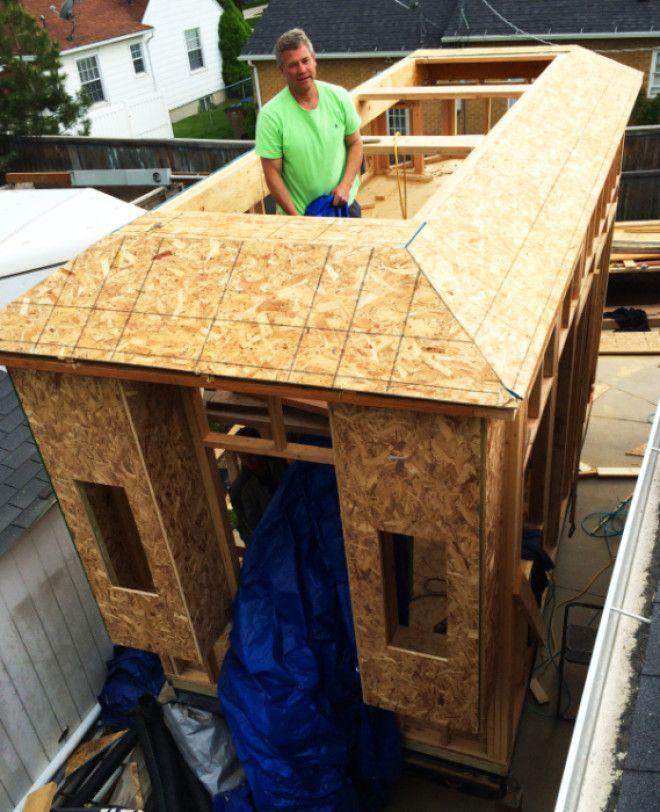 Активное строительство дома