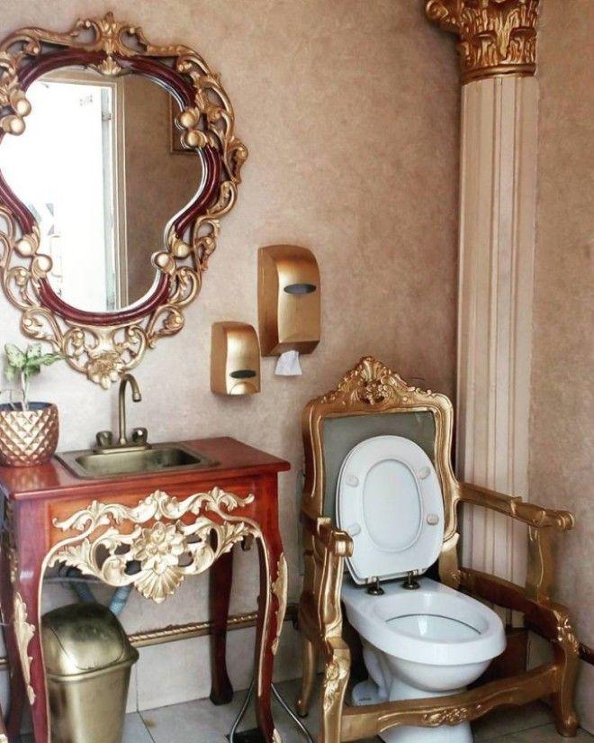 Восседай как король шикарный туалет на филиппинской заправке
