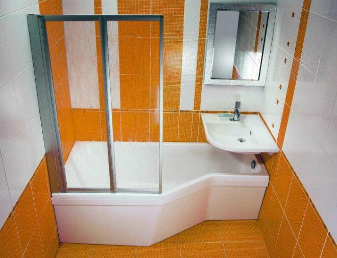 Раковина в изножье ванны