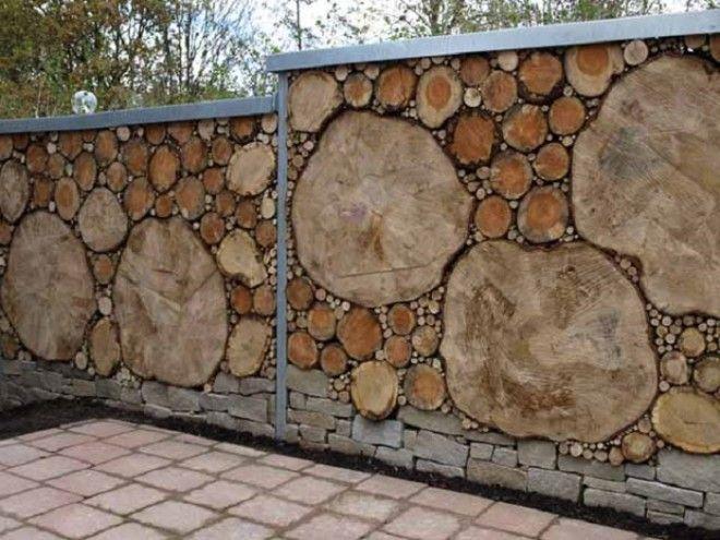 Такой забор интересен тем что неважно какого размера будет сруб дерева и в какой очередности будет он сложен Хаос вот название такого забора