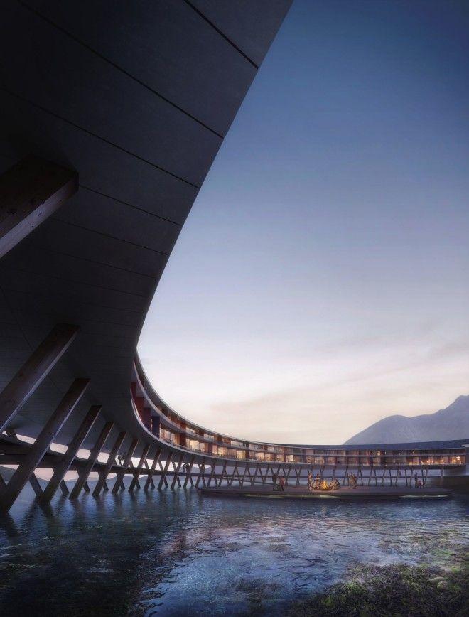 Проект необычного отеля на солнечных батареях в Норвегии