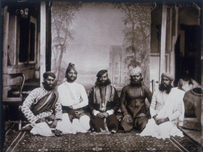 Групповое фото местной знати Джайпур примерно 1857 год