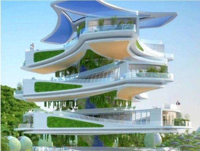 Каждый элемент этого здания будет вращаться вырабатывая энергию