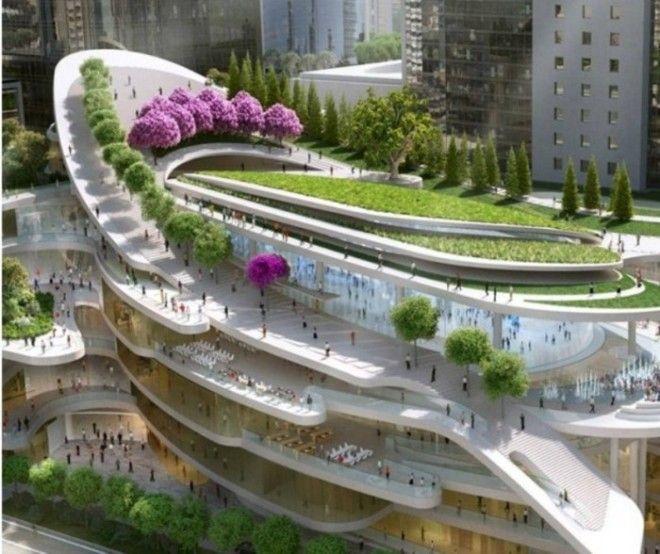 Данный проект поражает количеством лестниц и плавными формами