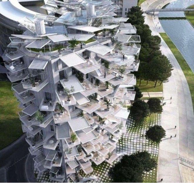 Эта футуристическая конструкция совместный проект архитекторов из Японии и Средиземноморья