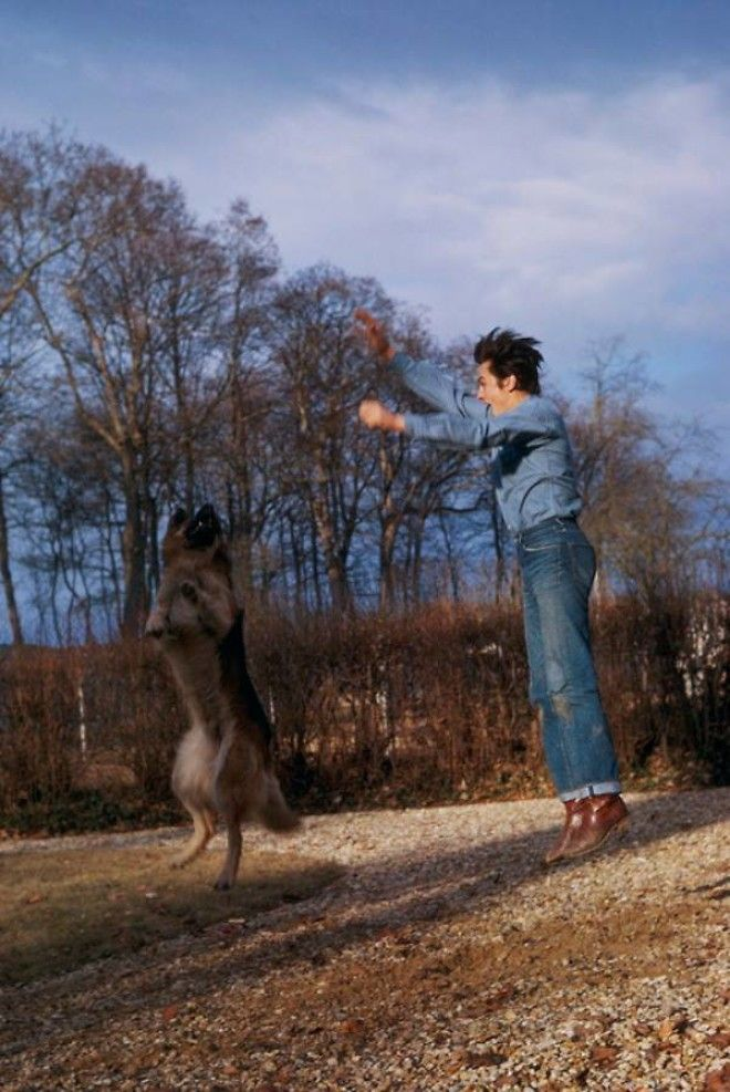 20 невероятно теплых фотографий известных людей и их друзей собак