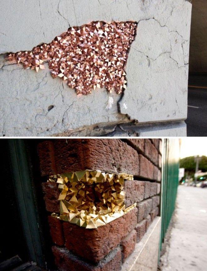 Маскировка трещин на стенах