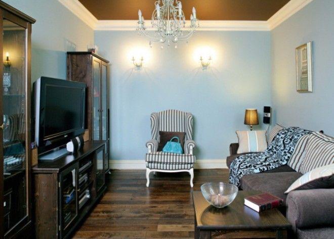 Темная мебель решение для комнат с большой площадью