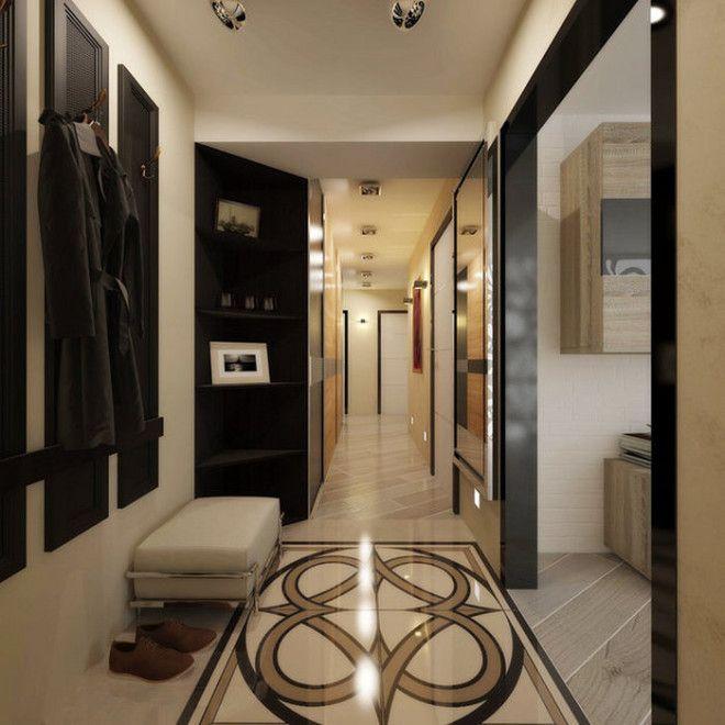 Солидное оформление пола в узком коридоре
