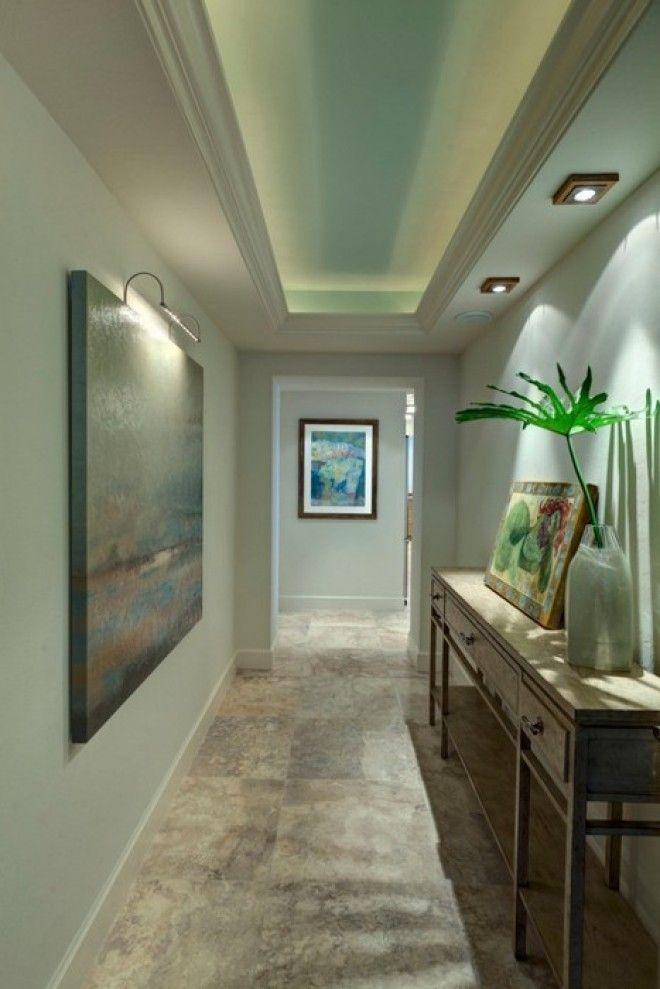 Разные сценарии освещения в узком коридоре