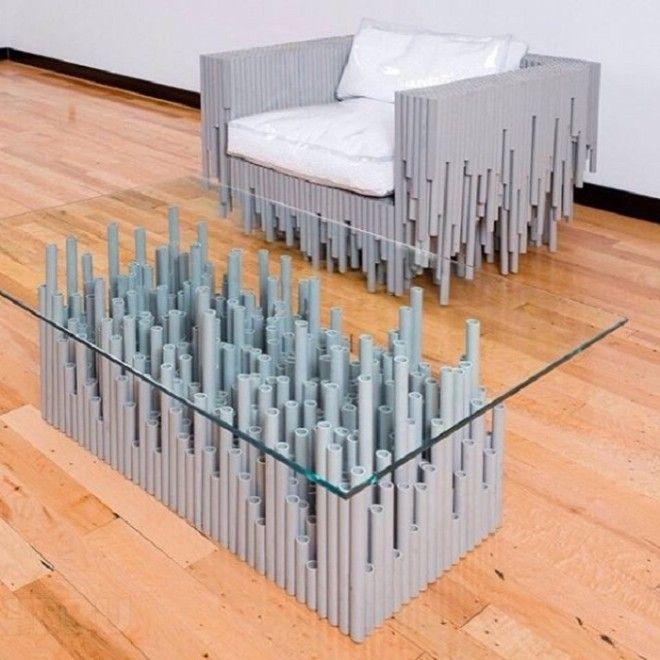 Мебель своими руками из пластмассовых труб