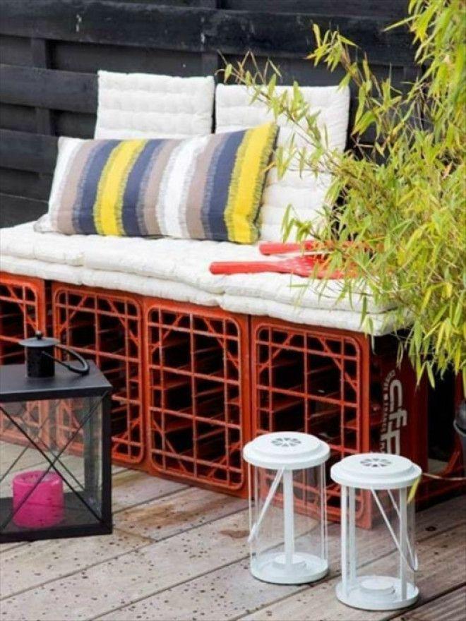 Садовый диван из ящиков