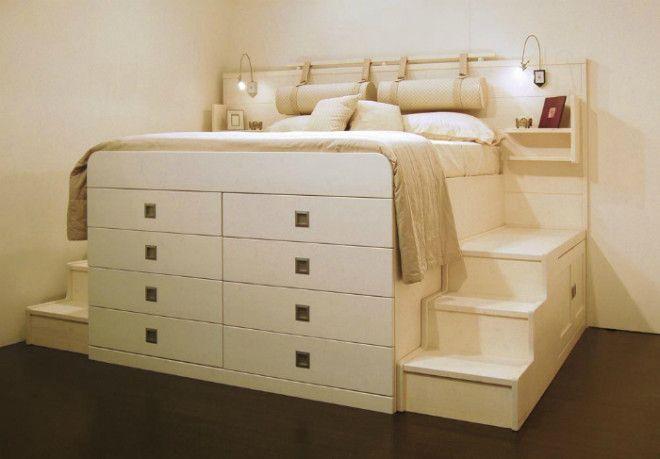 Спальное место на комоде