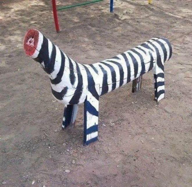 Зебра без головы