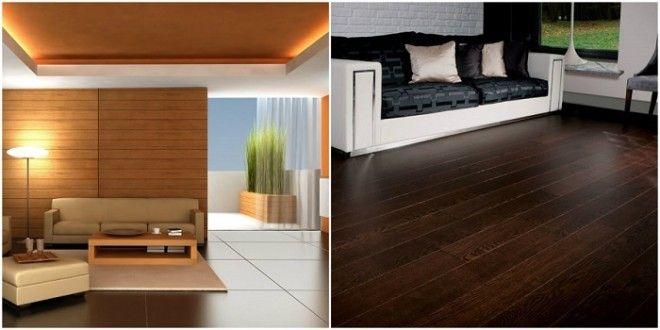 Подобранные в один тон цвет стен и мебель будут идеально сочетаться а пол сделанный из дерева придаст контраста в комнате