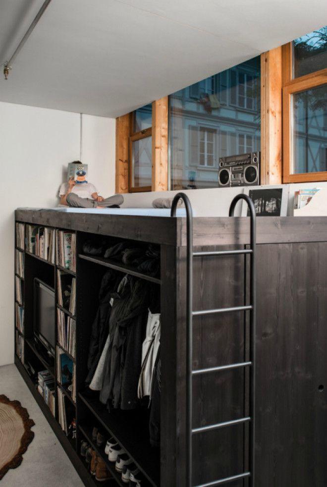 Спальное место на шкафу