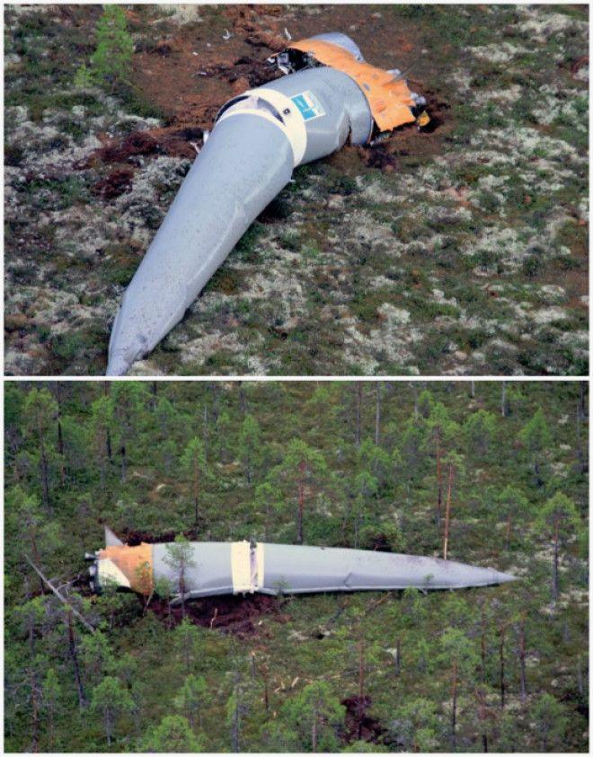 Отработанные ступени ракеты