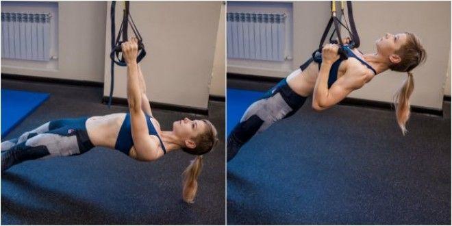 Домашние тренировки для начинающих: Подтягивания с ногами на полу