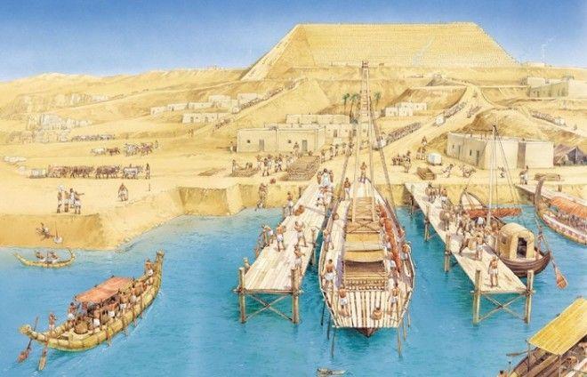 Древний Египет водные каналы Гизы