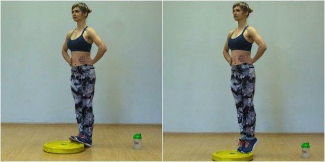 Домашние тренировки для начинающих: Подъём на носочки с возвышения