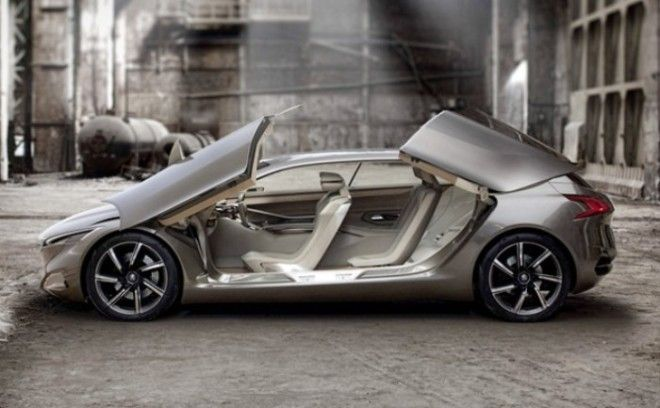 Интересная концепция Peugeot HX1 с красивыми дисками