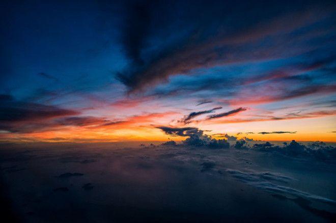 Безумно красивый вид в небе над Филиппинскими островами