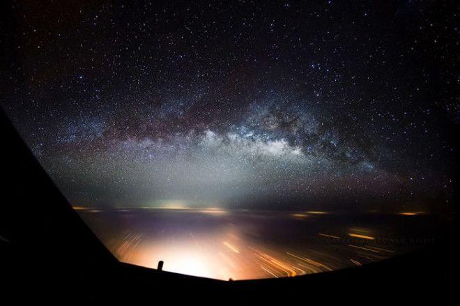 Фантастический пейзаж запечатленный первым пилотом рейсового самолета Боинг747