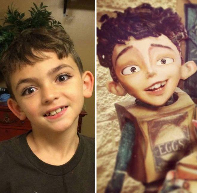 Мальчику из мультфильма забыли дорисовать ресницы тогда глаза стали бы более выразительными
