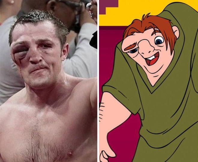 Лицо боксера после окончания поединка выглядит довольно похоже