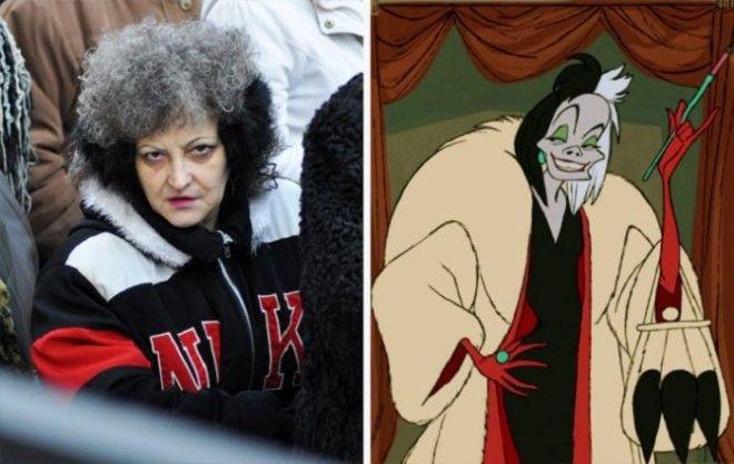 Если судить по выражению лица эта женщина вполне может соответствовать злой героине
