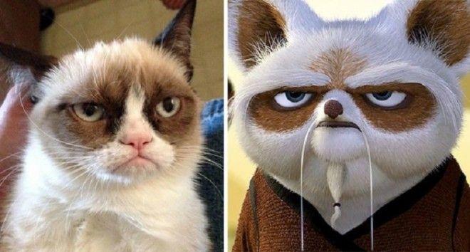 Возможно необычная внешность сердитого кота нашла воплощение в маленьком учителе Неистовой Пятерки