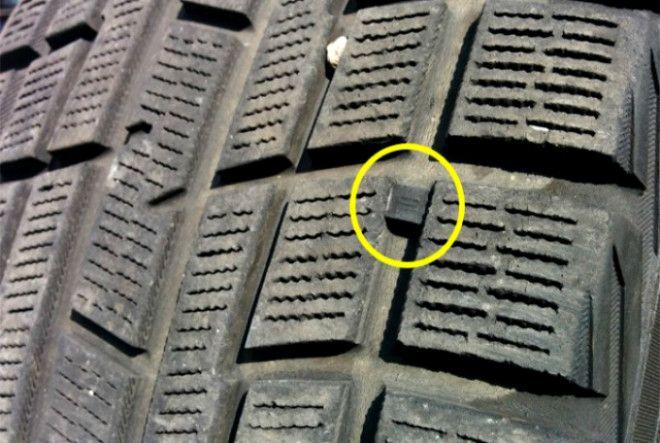 Небольшие пометки на шинах