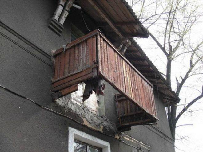 Экстремальный балкон без дна