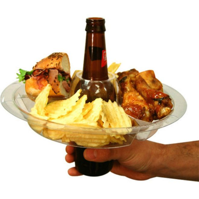 Удобная тарелка для закусок