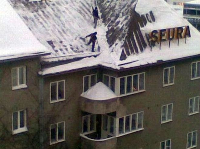 Внушительная снежная горка