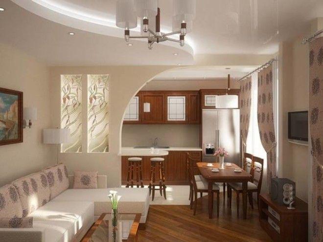 Кухня объединённая с гостиной идеальный вариант для расширения пространства
