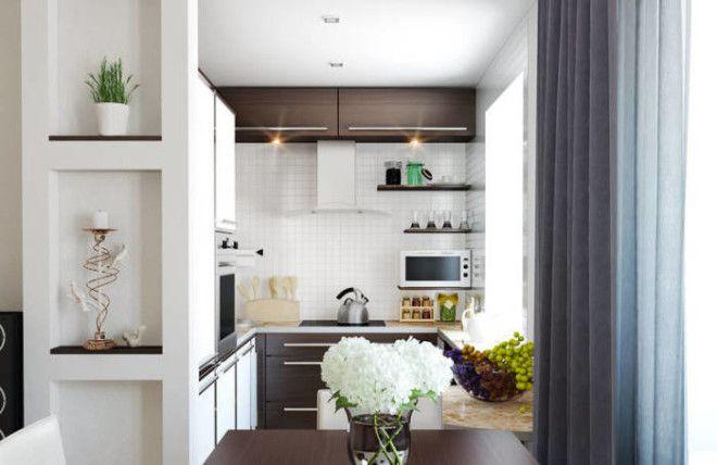 Кухня в светлых тонах выполненная в современном стиле