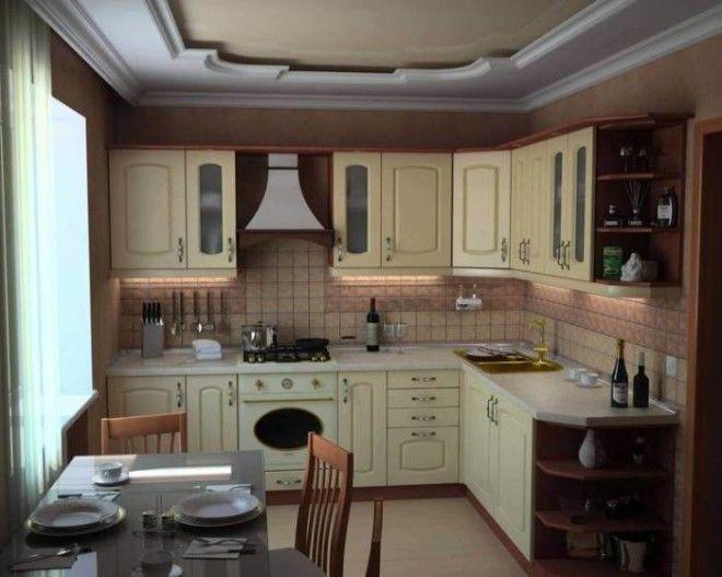 Современная кухня выполненная в традиционном классическом стиле